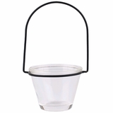 """Hanging Glass Votive & Tealight Holder, Recycled Glass - """"Brenna"""" - Clear"""