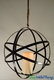 """Hanging Metal Sphere - Flickering LED Candle w/Timer - 20"""" - Orb Folds Flat! Add Florals!"""