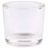 """Heavy Votive & Tealight Holder, Recycled Glass - """"Cora"""" Clear Glass Candle Holder"""