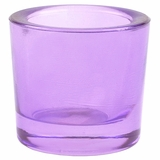 "Heavy Votive & Tealight Holder, Recycled Glass - ""Cora"" Violet Glass Candle Holder"