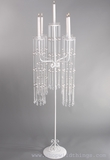 """CLEARANCE  """"Heloise"""" Beaded White 5-Taper Candle Holder 46.5"""" Tall"""