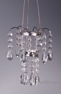 """Holly"" Crystal Hanging Tea Light Holder 10"""