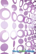 Hoops Beaded Curtain -  Purple - 3' x 6'