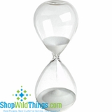 "Hour Glass 8""  - White Sand"
