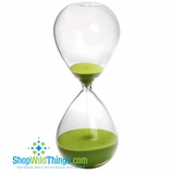 "Hourglass 8"" - Lime Green Sand"