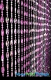 Ice Pop Beaded Curtain - Pinks Iridescent - 3 ft x 6 ft