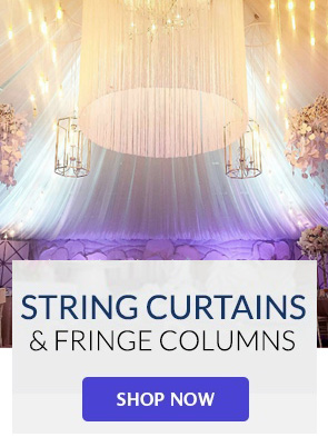 String Curtains & Fringe Columns