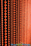 """Jazzy Pearls""  Beaded Curtain - Fiery Orange, 3 Ballchain Sizes"