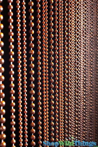 Tigers Eye Brown Jazzy Pearl Beaded Curtain