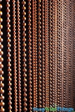 """Jazzy Pearls""  Beaded Curtain - Tiger's Eye Brown, 3 Ballchain Sizes"