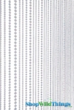 Jazzy Pearls Beaded Curtain - Crystal Iridescent - 3 ft x 6 ft