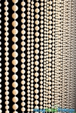 """Jazzy Pearls"" Beaded Curtains - Ivory Colored Pearls"