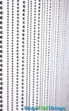 Jazzy Pearls Beaded Curtain - Steel Faux Metal - 3' x 6'