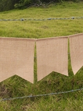 Jute Banner 5 pieces  - 6.5 Feet Long - Vinyl Backed for Painting!