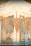 Jute Fabric Triangles - DIY Buntings & Banners