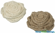 Large Jute Flowers - Set of 2