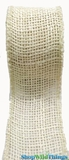 "Jute Natural Fabric Roll Ivory 1.5""x10yd  - High Quality Open Weave"
