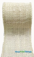 "Jute Natural Fabric Roll Ivory 2.5""x10yd - High Quality Open Weave"