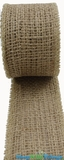 "Jute Natural Fabric Roll Natural 1.5""x10yd -  High Quality Open Weave"