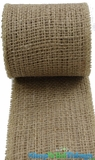 "Jute Natural Fabric Roll Natural 2.5""x10yd - High Quality Open Weave"