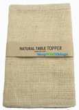 "Jute Natural Fabric Topper Ivory 52x52""  - High Quality Open Weave"