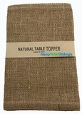 "Jute Natural Fabric Topper Natural 60x60""  - High Quality Open Weave"