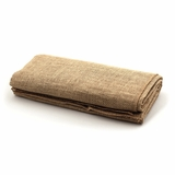 "Jute Natural Table Topper 64"" x 64""  Square - Short Fringe Edge"