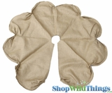 Jute Tree Skirt w/Ruched Design - Natural - 45""