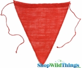 "Jute Triangle Banner 8x10"" (Red)"