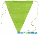"Jute Triangle Banner 9.5x12"" (Apple Green)"