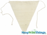 "Jute Triangle Banner 9.5x12"" (Ivory)"