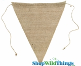 "Jute Triangle Banner 9.5x12"" (Natural)"