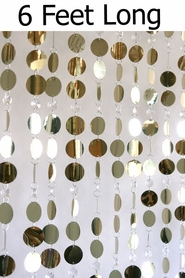 Coming Soon - Kate Beaded Curtain - Gold & Crystal - 3 ft x 6 ft