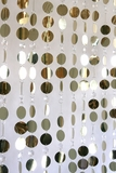 Kate Beaded Curtain - Light Gold & Crystal Non Iridescent - 3 ft x 6 ft