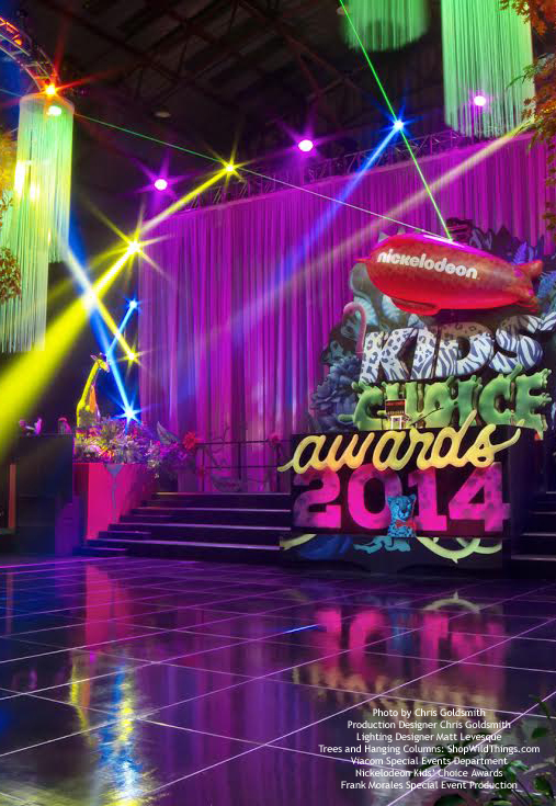 Kids Choice Awards Nickelodeon - String Columns & LED Trees