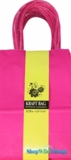 Kraft Bag, Small Hot Pink, 12 Ct