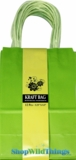 Kraft Bag, Small Lime, 12 Ct