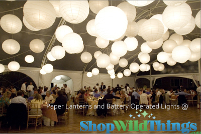 battery operated led paper lanterns, lit paper lante
