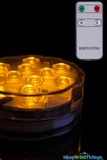 Large LED Submersible Disc w/Remote, 10 Yellow/Amber Lights