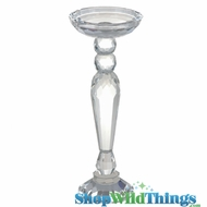 "CLEARANCE Lead Crystal Candle Holder ""Arabella"" - 11"" Tall - Graduated Candle Cup"