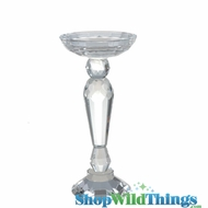 "Lead Crystal Candle Holder ""Magdelina"" - 9"" Tall - Graduated Candle Cup"