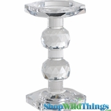"""Lead Crystal Candle Holder """"Seraphena"""" - 7"""" Tall - Reversible!"""