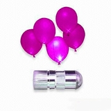 LED Balloon Light, Pink - Steady Light 12pcs