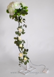 "CLEARANCE LED Battery Operated Roses on 36"" Tall Stand - ""Amorette"""