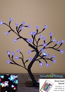 LED Blossoms Tree - 4 Feet Tall- Indoor Use - RGB Color Changing With Remote - 64 Lights, 16 Colors