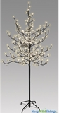 LED Blossoms Tree - 6 Feet Tall - Indoor/Outdoor - 204 Blossom Flower Lights - Warm White