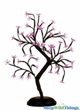 "LED Bonsai Tree - 18"" Tall - Indoor/Outdoor - 48 Lights - Fuchsia Pink - Battery Operated with Timer"