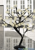 "LED Bonsai Tree - 18"" Tall - Indoor/Outdoor - 48 Lights - Warm White - Battery Operated with Timer"