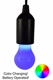 LED Color Changing Light Bulb - Battery Operated - Hanging Rope Light