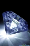 LED Diamond Shape Light - Battery Operated - White Flash or Solid